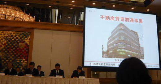 東京楽天地(8842)株主総会