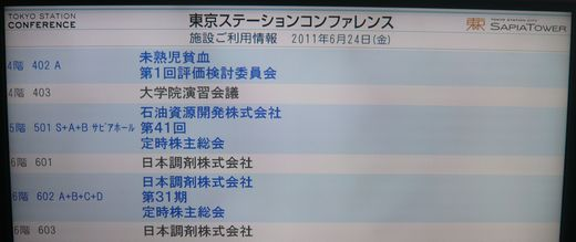 日本調剤2011年株主総会